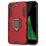 Slim Armour Shockproof Case & Magnetic Ring Holder for Oppo R11 - Red